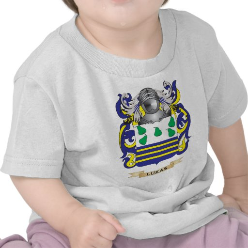 Lukas Coat of Arms (Family Crest) T-shirts