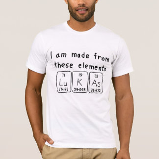 Lukas periodic table name shirt