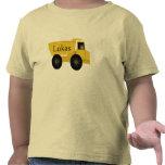 Lukas personalizó la camisa del camión volquete