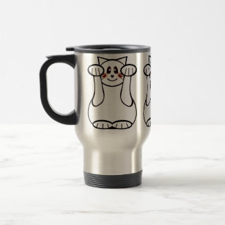 Lukcy Cat Maneki Neko Beckoning Welcome Cat Travel Mug