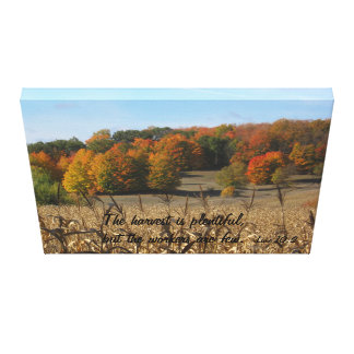 Luke 10:2 Stretched Canvas Print