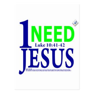 Luke 10:41-42 postcard