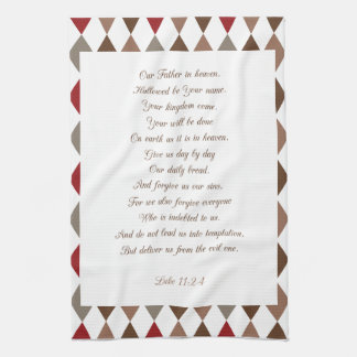 Luke 11:2-4 Our Father.. Hand Towel