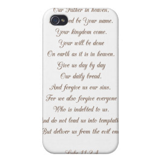 Luke 11:2-4 Our Father.. iPhone 4 Case