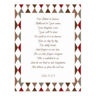 Luke 11:2-4 Our Father.. Postcard