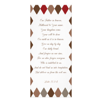 Luke 11:2-4 Our Father.. Rack Card