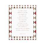 Luke 11:2-4 Our Father.. Stretched Canvas Print