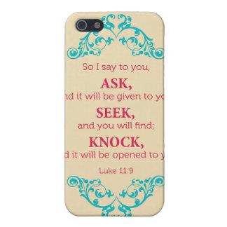 Luke 11:9 iPhone SE/5/5s case