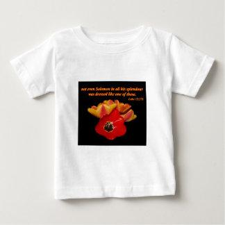 luke 12:27b and bright tulips baby T-Shirt