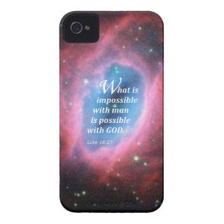 Luke 18 27 Case-Mate iPhone 4 case