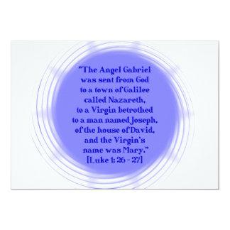 Luke 1: 26 - 27 card