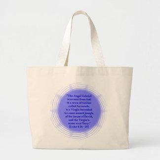 Luke 1: 26 - 27 large tote bag