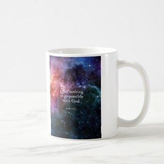 Luke 1:37 coffee mug