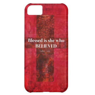 Luke 1:4 Blessed is she who believed iPhone 5C Cover
