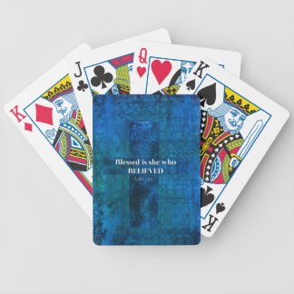 Luke 1:4 Blessed is she who believed Playing Cards