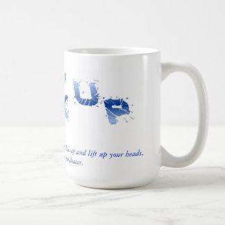 Luke 21:28 coffee mug