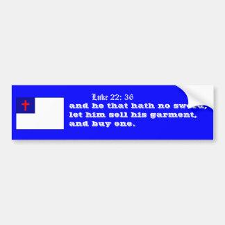 Luke 22:36 buy a sword bumper sticker