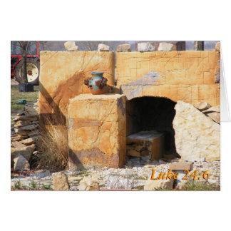 Luke 24: 6, He is Risen Card