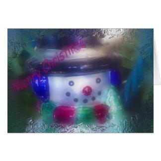 Luke 2:11 Snowman Ornament Christmas Card