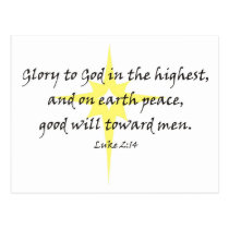 Luke 2:14 postcard