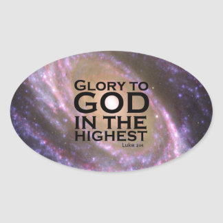 Luke 2:14 oval sticker