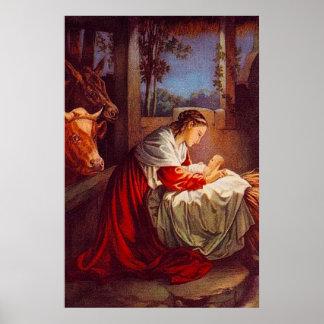Luke 2:1-7 Jesus is Born in Bethlehem Poster