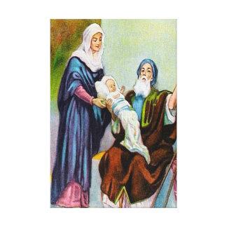 Luke 2:25-35 Simeon Sees God's Salvation canvas