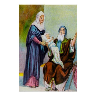 Luke 2:25-35 Simeon Sees God's Salvation Poster