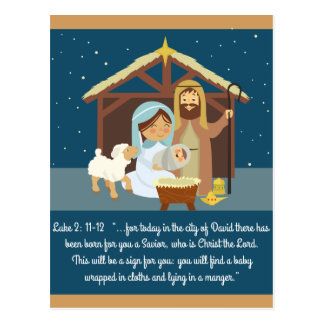 Luke 2 For Today a Child Has Been Born Postcard