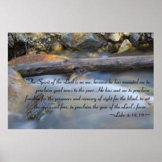 Luke 4:18-19 Poster print