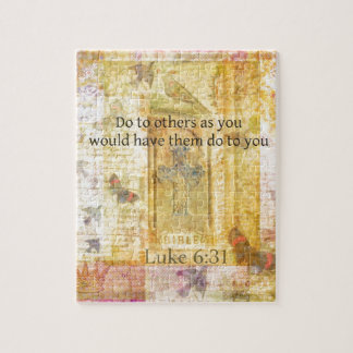 Luke 6:31  Do to others BIBLE VERSE Jigsaw Puzzle