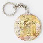Luke 6:31  Do to others BIBLE VERSE Basic Round Button Keychain