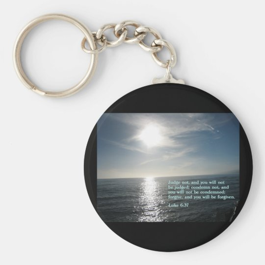 Luke 6:37  Sunset Keychain