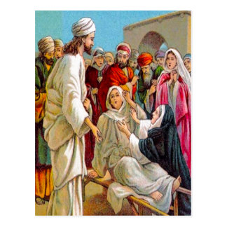 Luke 7:11-17 Jesus Brings a Dead Man to Life postc Postcard