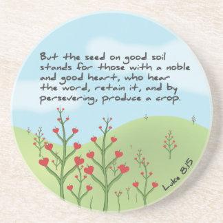 Luke 8:15 - Produce A Crop Coaster