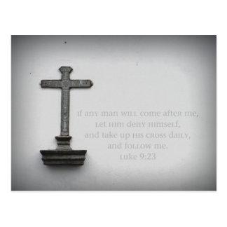 Luke 9:23 Postcard