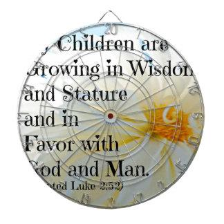 Luke Bible Verse My Children are growing in wisdom Dart Board
