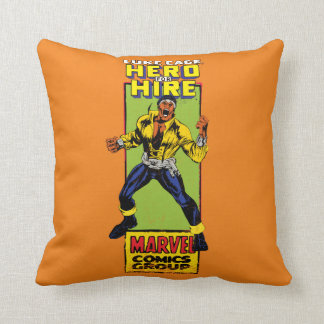 Luke Cage Comic Graphic Throw Pillow