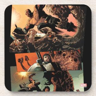 Luke Cage Fighting Aliens Coaster