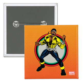 Luke Cage Retro Character Art Pinback Button