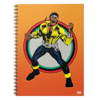 Luke Cage Retro Character Art Spiral Notebook