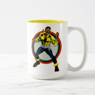 Luke Cage Retro Character Art Two-Tone Coffee Mug