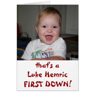 Luke FIRST DOWN! Stationery Note Card