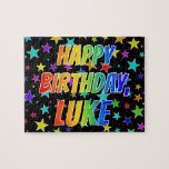 "[ Thumbnail: ""Luke"" First Name, Fun ""Happy Birthday"" Jigsaw Puzzle ]"