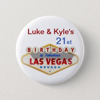 Luke & Kyle's 21st Las Vegas Birthday Button
