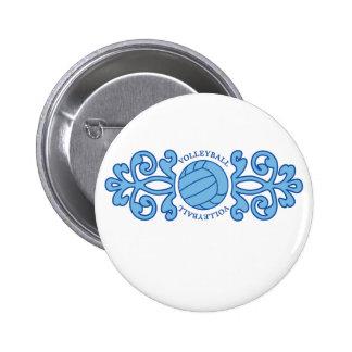 Lukean Volleyball 2 Inch Round Button