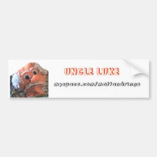 lukebig, UNCLE LUKE, myspace.com/mattandringo Bumper Sticker