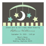 Lullaby Baby Stars and Moon Mobile Invitation