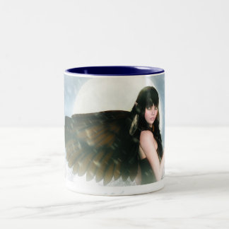 Lullaby eyes Two-Tone coffee mug