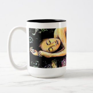 Lullaby, Fine Art Products Two-Tone Coffee Mug